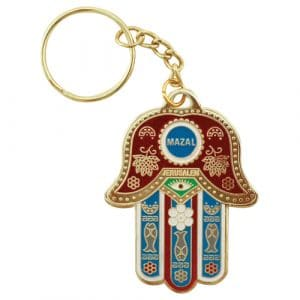 Key Chain Hamsa Mazal with Prayer for traveller in Spanish