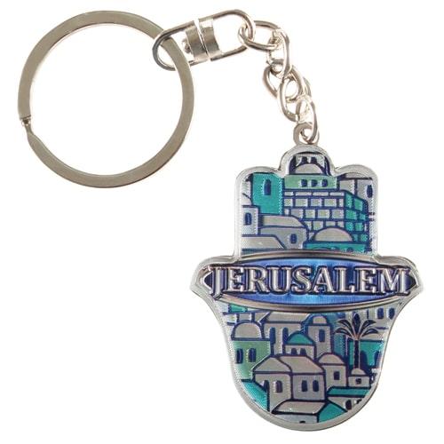 Metal Hamsa Key Chain -