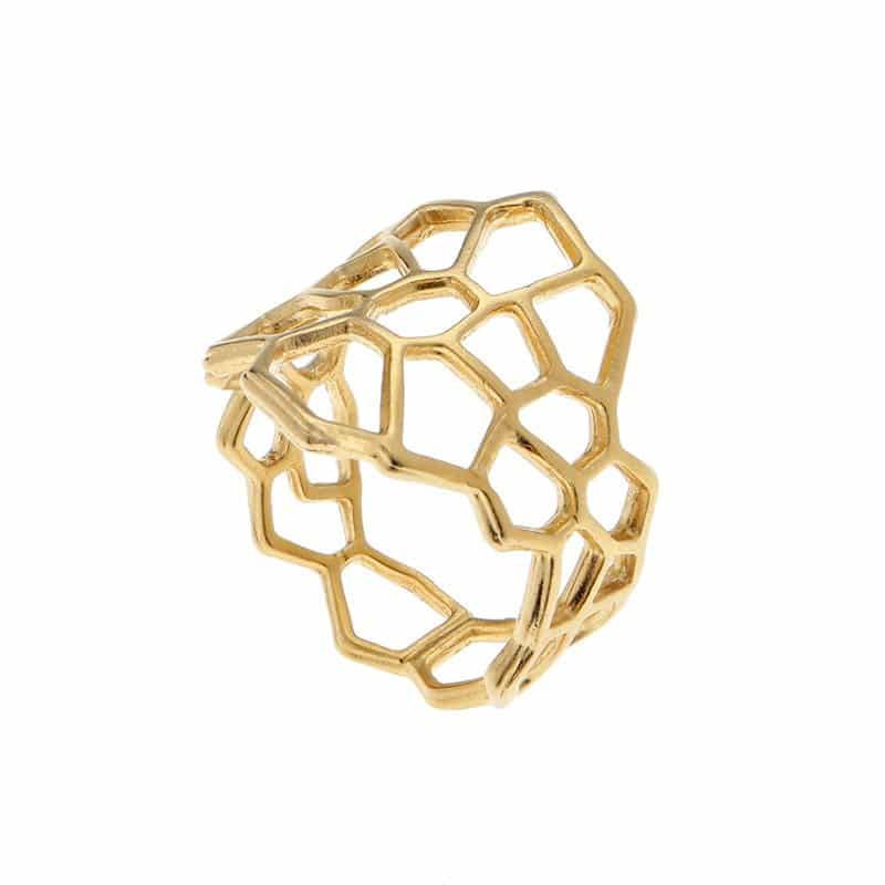 Netted Ring - Gold