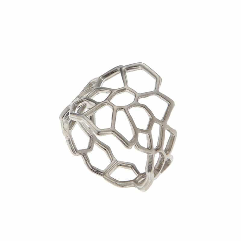 Netted Ring - Silver