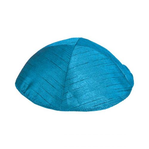 Poly Silk Kippah - Blue