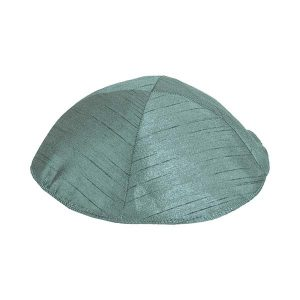 Poly Silk Kippah - Forest Green