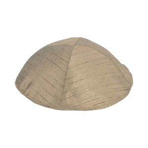 Poly Silk Kippah - Gold