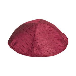 Poly Silk Kippah -Red