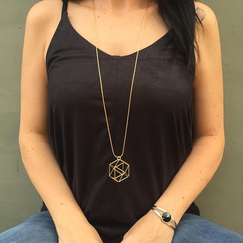 Polygon Necklace -  Gold
