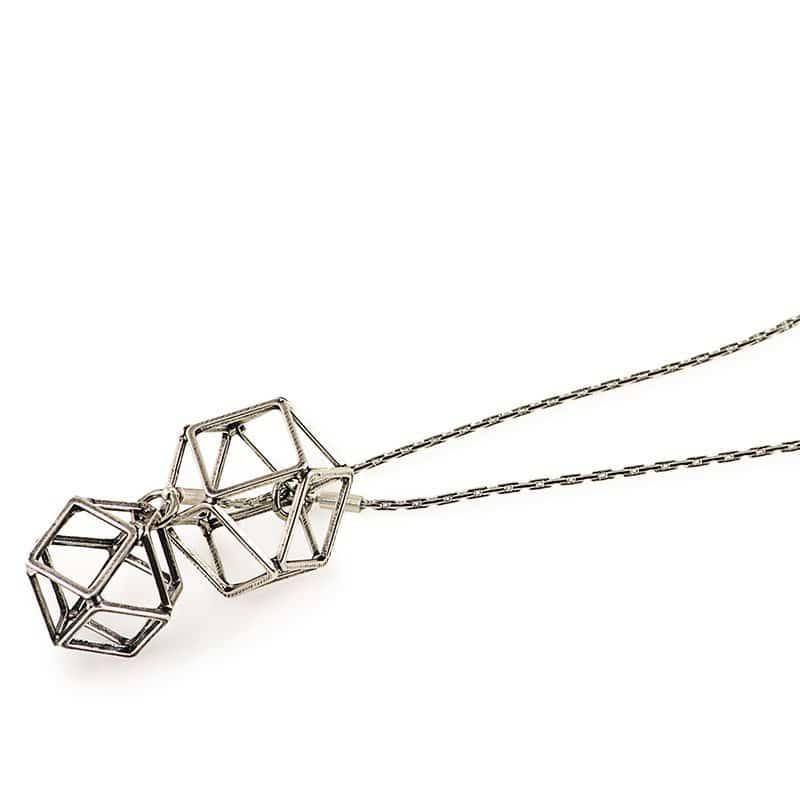 Polygon Scarf - Silver
