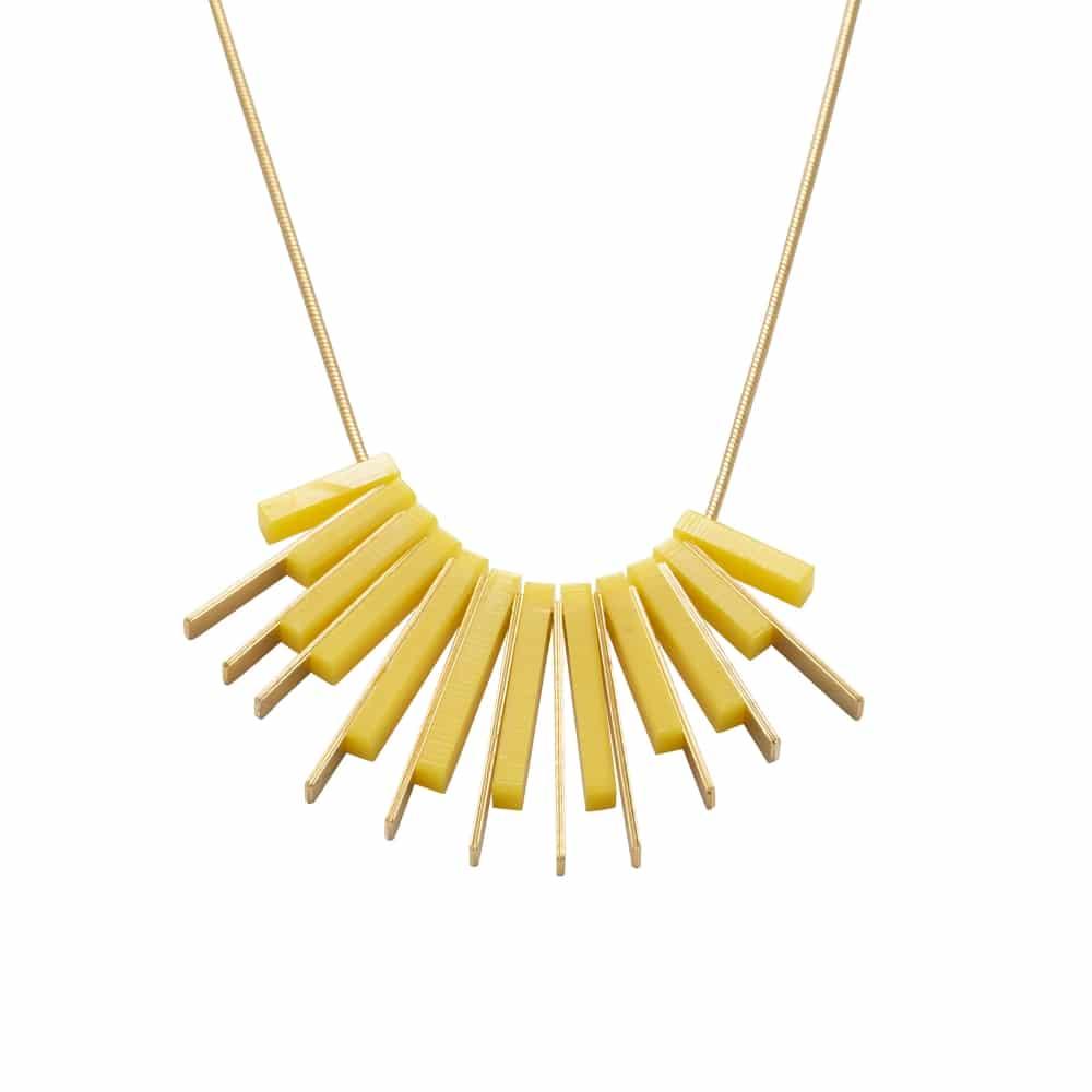 Collar Corto Dorado Amanecer - Amarillo