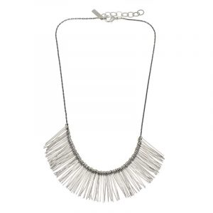 Short Pins Necklace - Silver