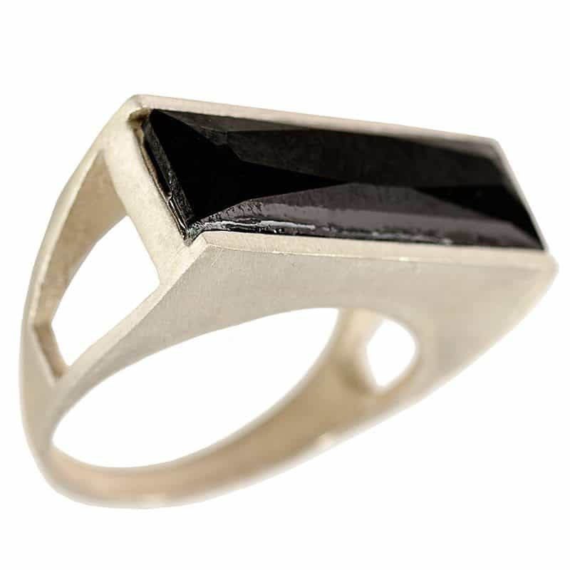 Silver Power Ring - Black