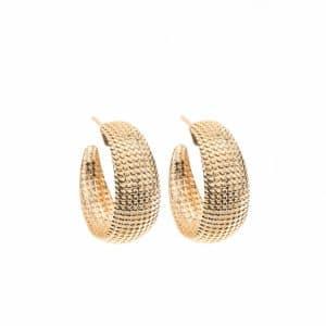 Small Net Earrings - Gold