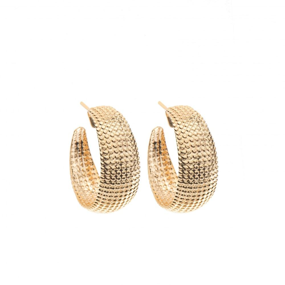 Small Net Earrings - Gold