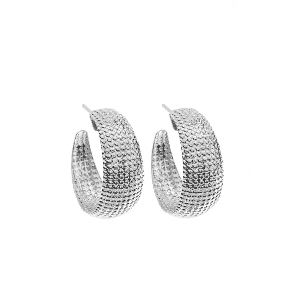 Small Net Earrings - Silver