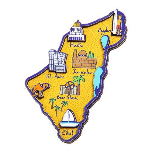 Wooden Magnet - Israel Map