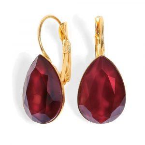 Date Night Earrings - Crimson Drop Crystal