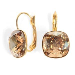 Date Night Earrings - Crystal Golden