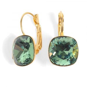 Date Night Earrings - Green Crystal