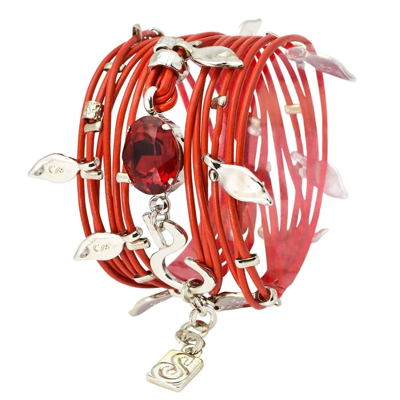IVY bracelet - Silvery red