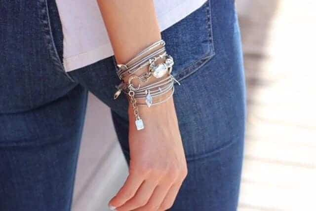 Ivy Bracelet - Silver/Dark Gray