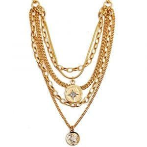 Beyonce D Gold Necklace