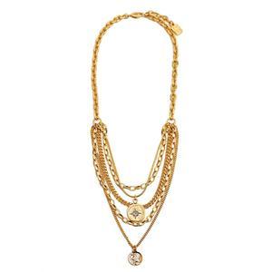 D Gold Necklace