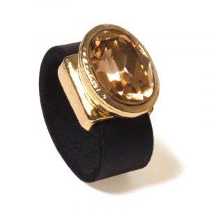 Gold glitter ring