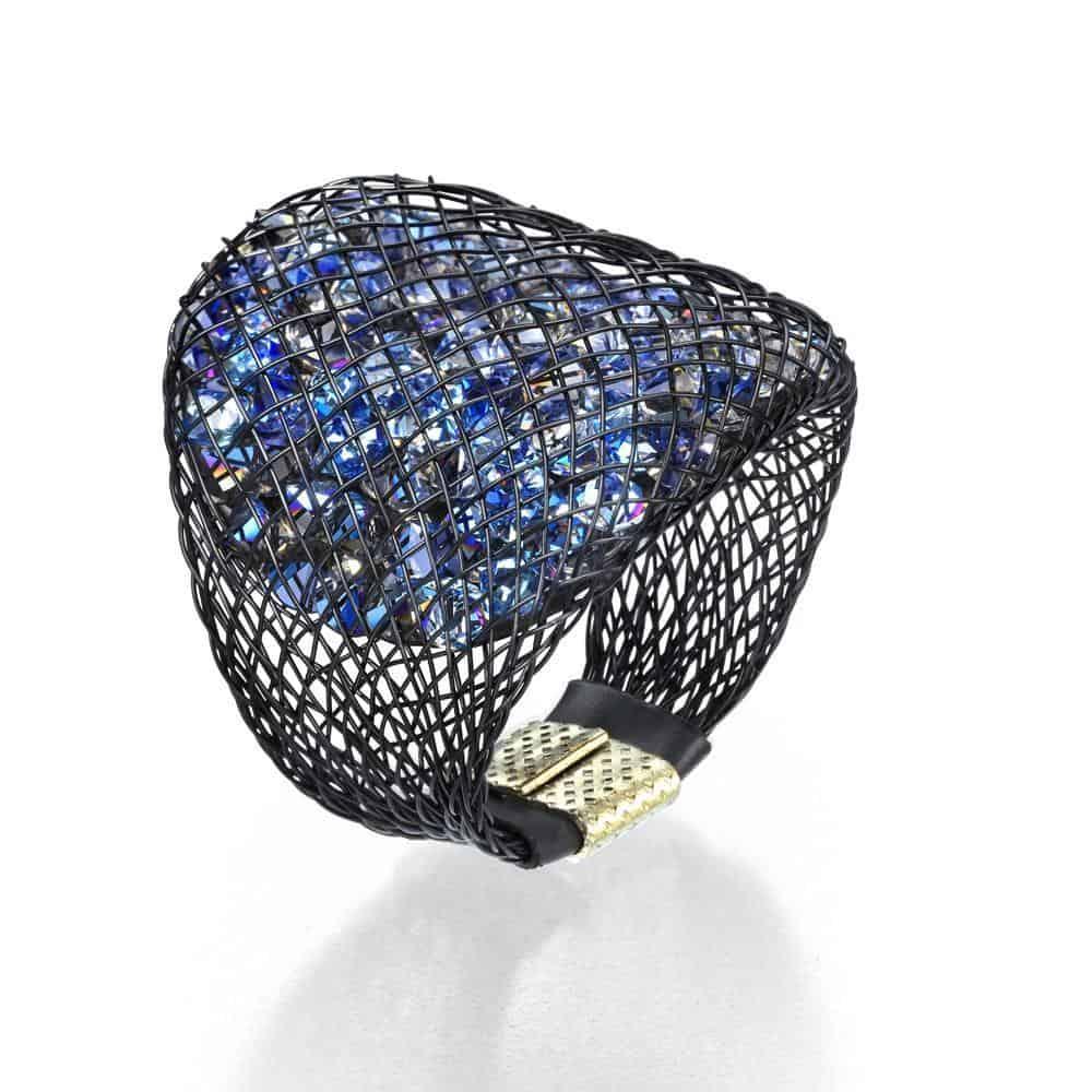 Blue Sparks ring