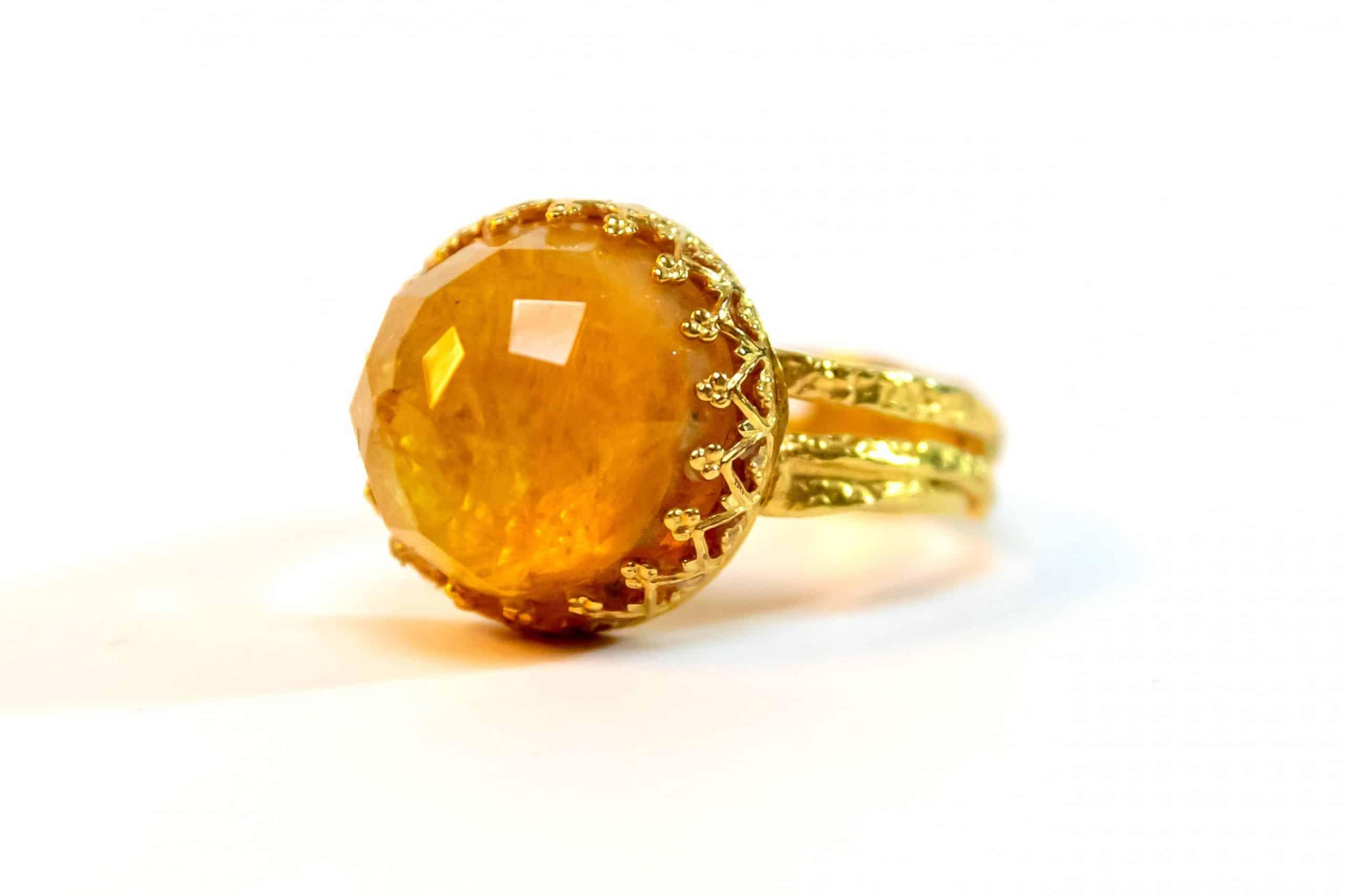Citrine Goldfield Ring - Wealth Stone