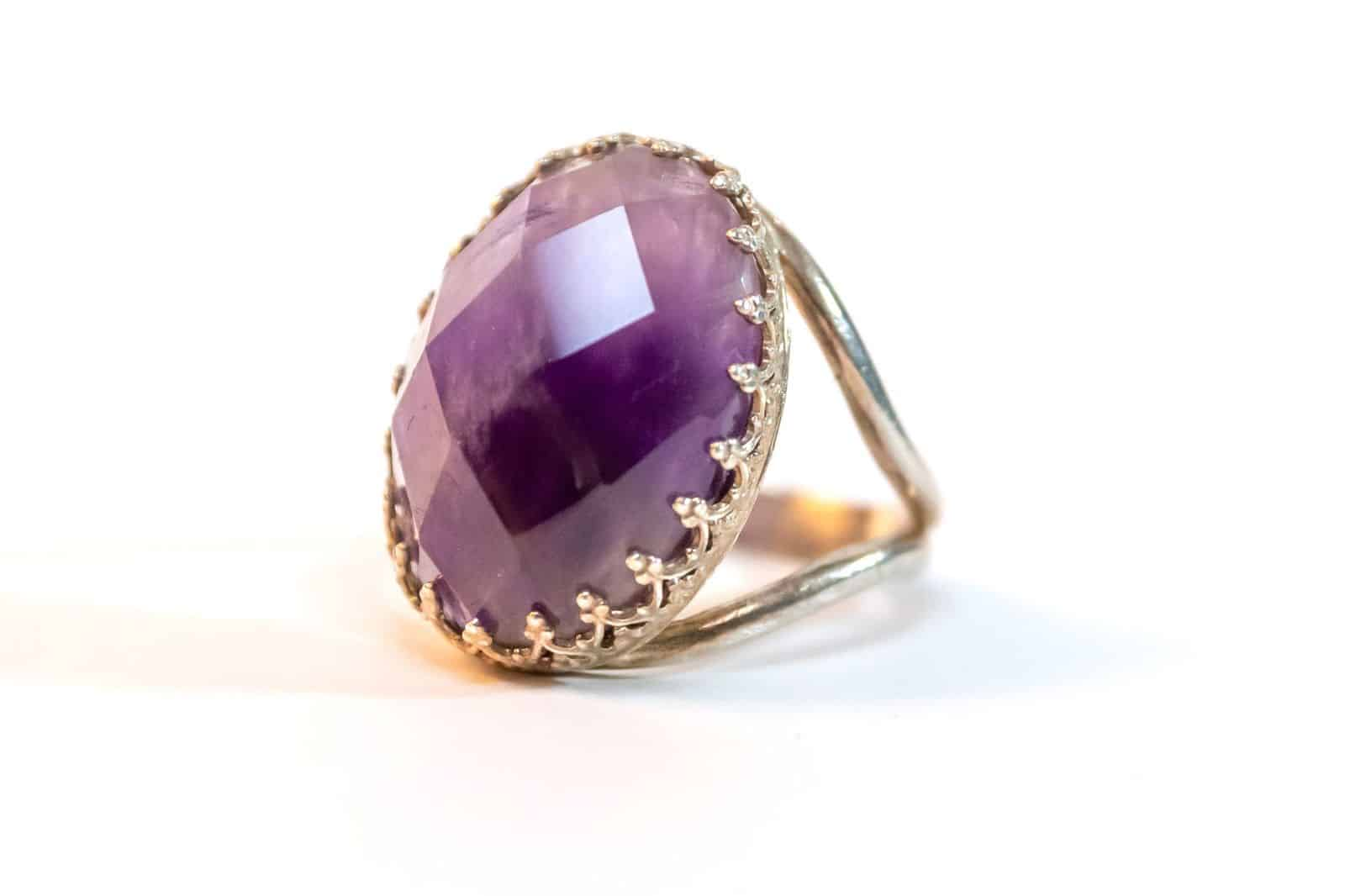 Amethyst Goldfield Ring
