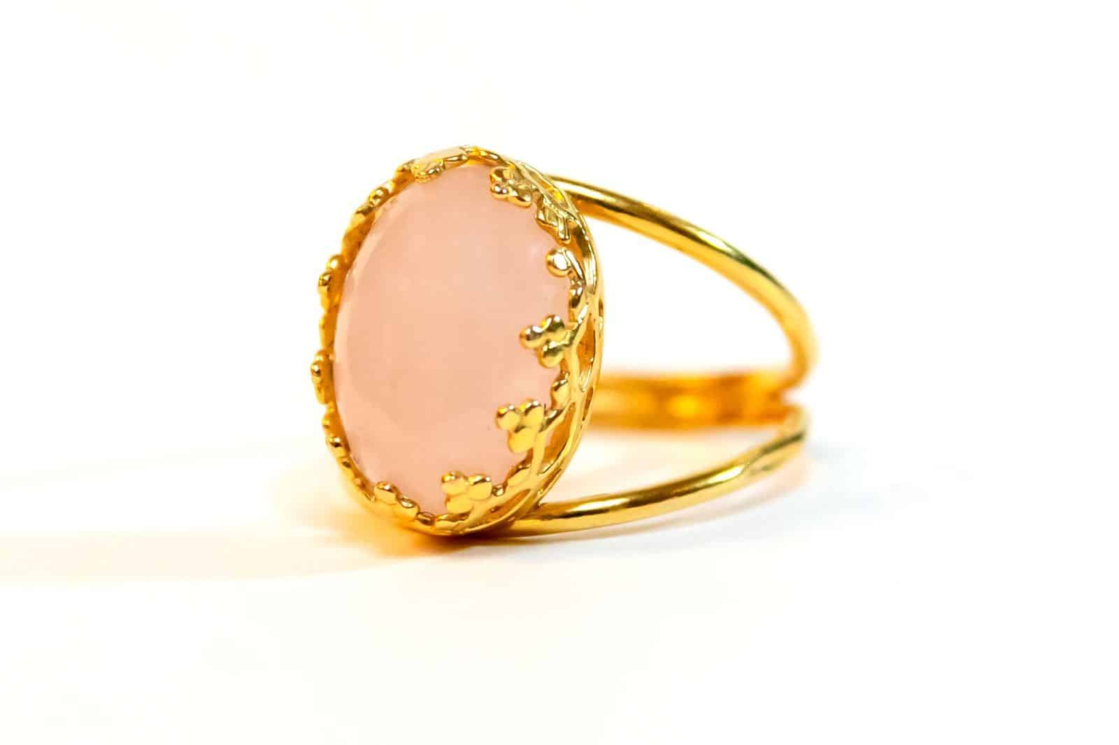 Rose Quartz Ring- The Love Stone