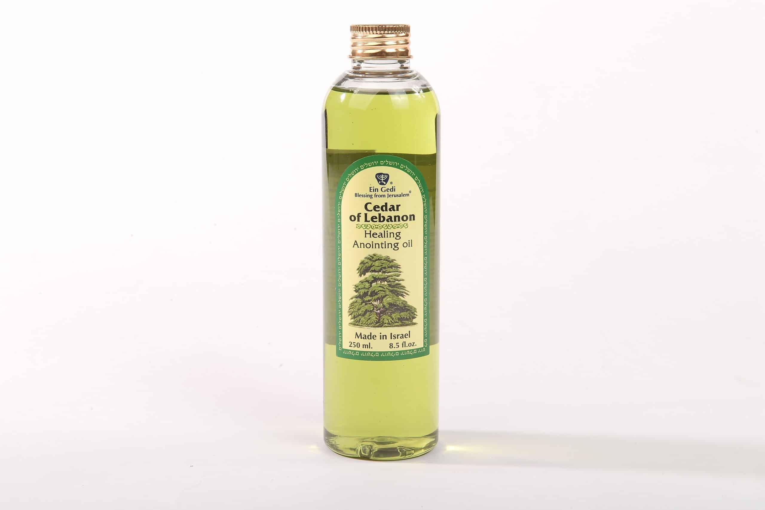 Aceite de unción de cedro del Líbano - Sanación - Elaborada en Israel - 250 ml