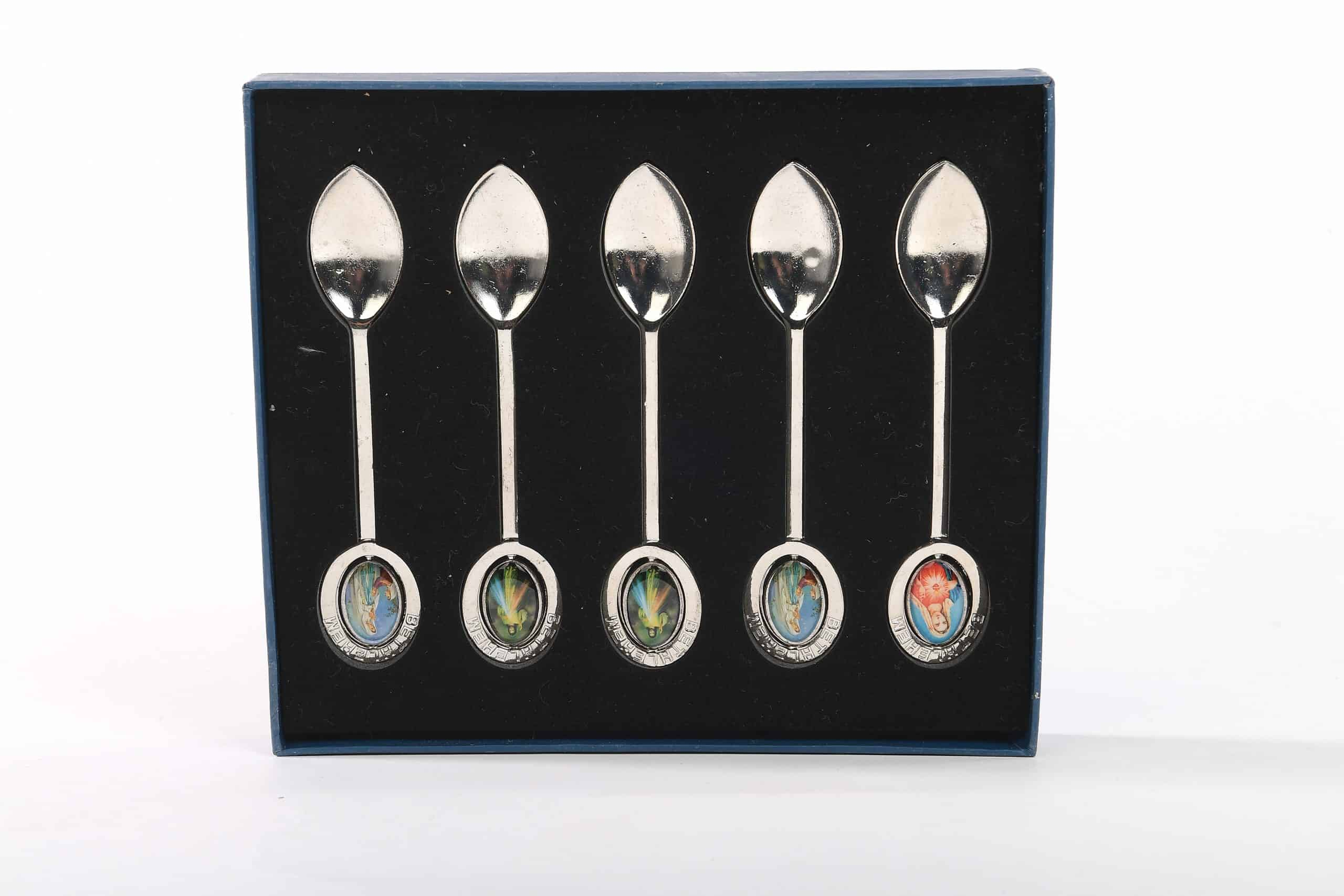 Holy Land souvenirs spoons holy saint (marry and jesus)