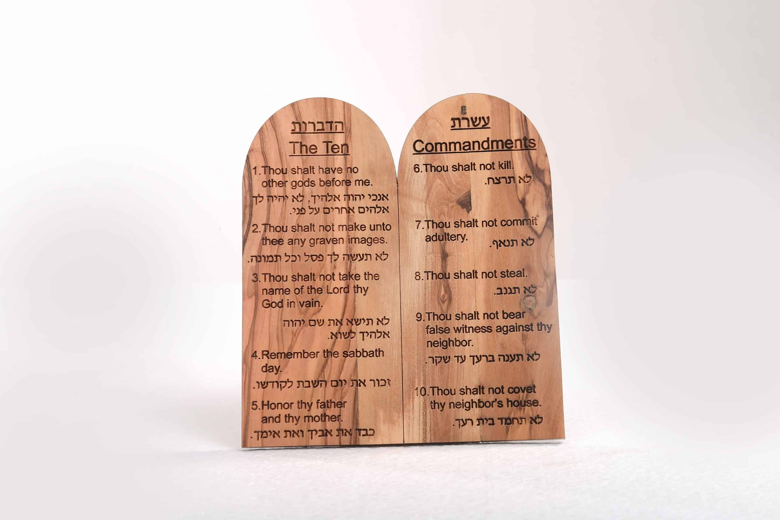 The Ten Commandments on Olive Wood – Small