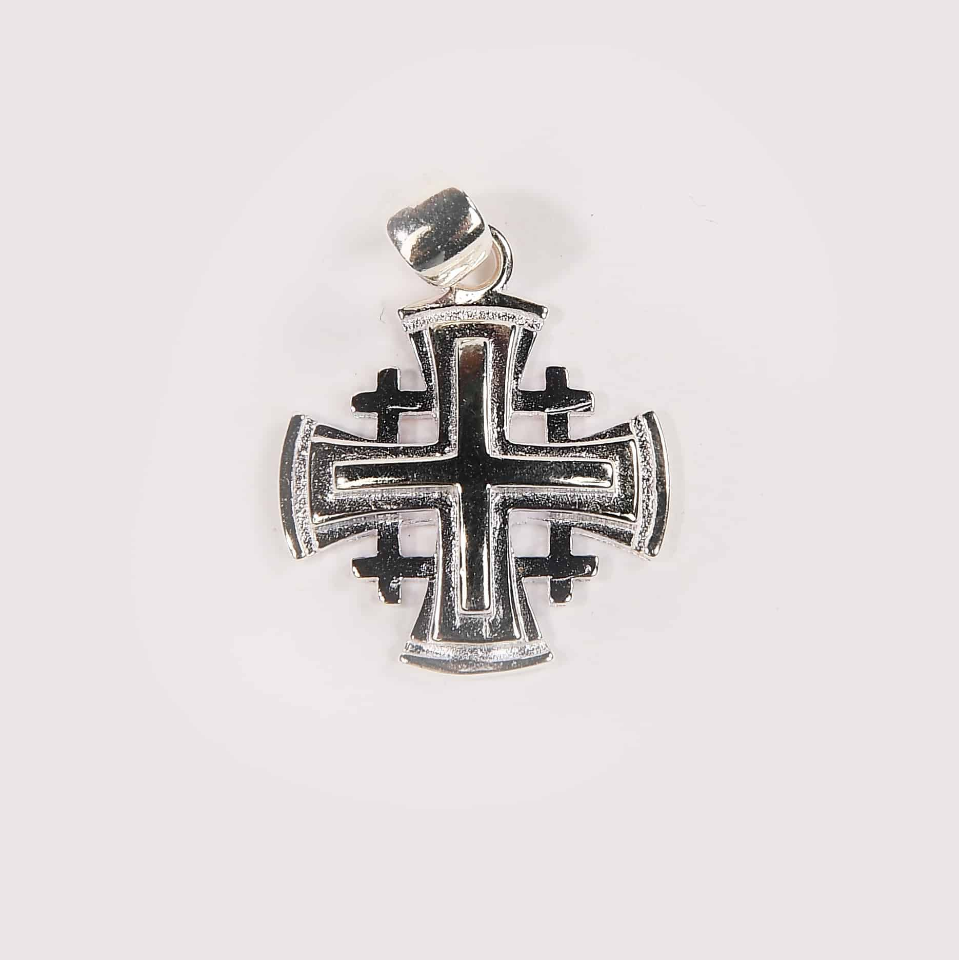 Jerusalem cross necklace with gold plated