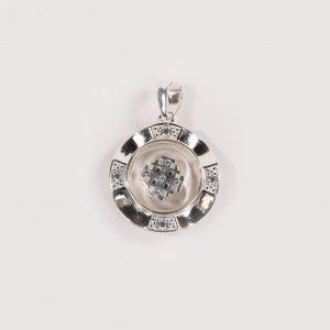 spinning Jerusalem cross necklace