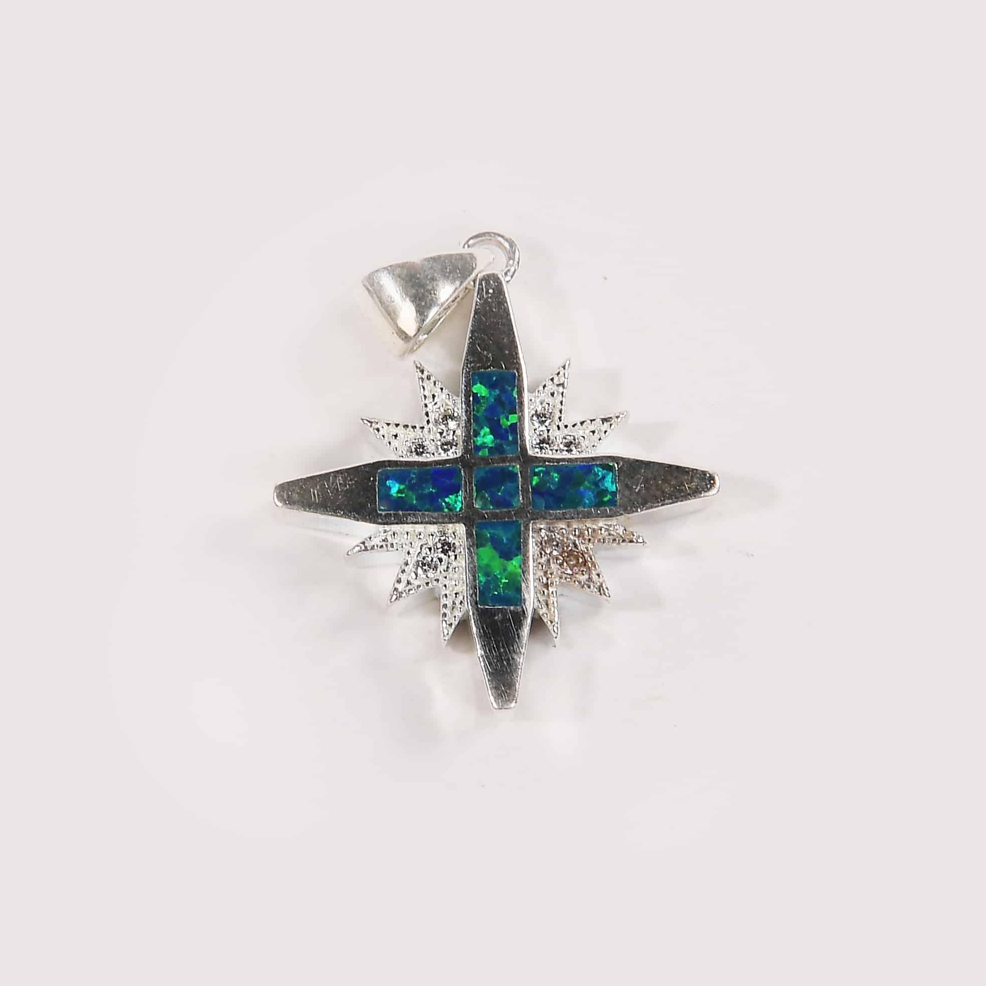 star of Bethlehem nativity shepherd felt with opal stone
