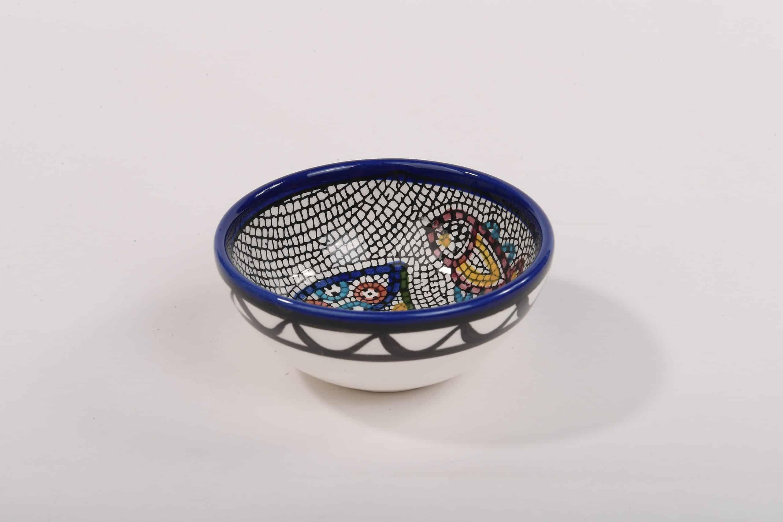Armenian Ceramic Tabgha Mosaic Decorative Bowl 6 cm