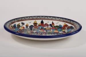 Armenian ceramic jerusalem bowl hand painted (L)