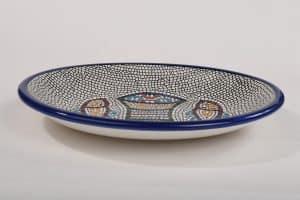 Armenian Ceramics Tabgha Loaves Bowl Hand Painted (Large)