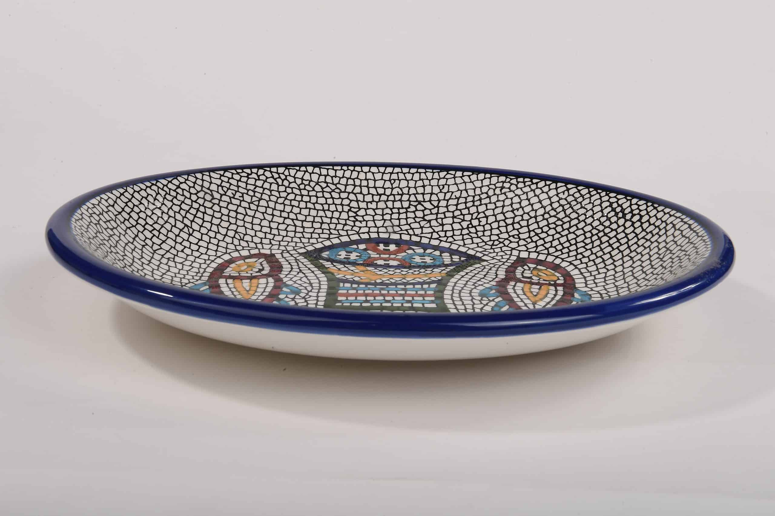 Armenian Ceramics Tabgha Loaves Bowl Hand Painted (Large)