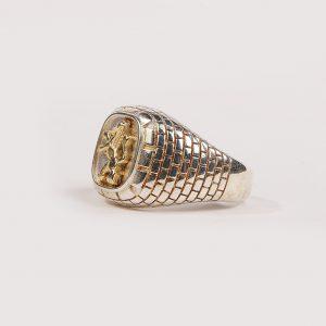 Silver 925 Lion of Judah Ring for Men