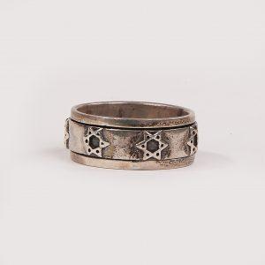 Silver 925 Spinning Ring Star of David Ring