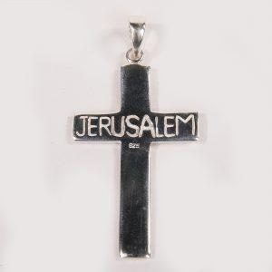 simple cross - with jerusalem word