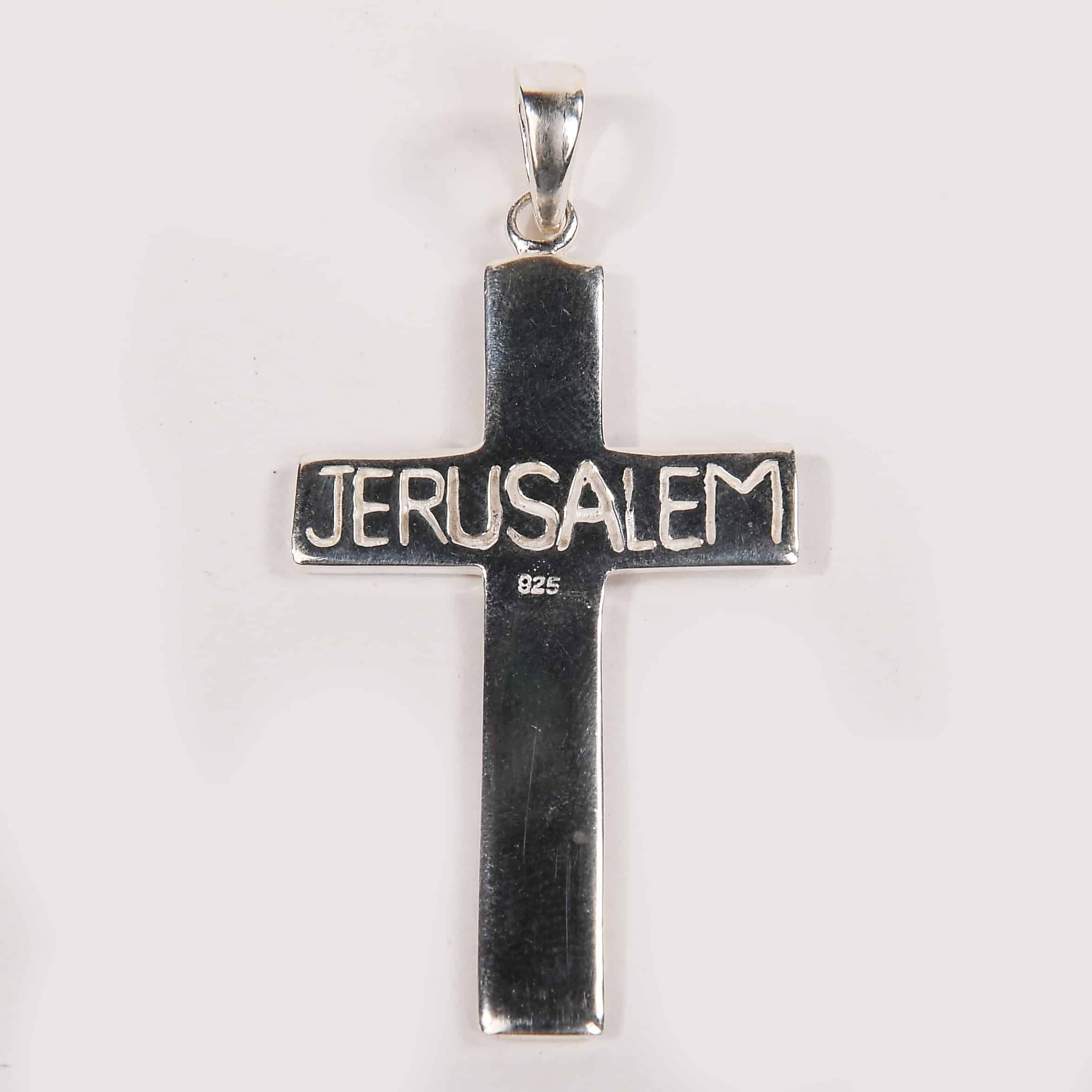 simple cross - with jerusalem word
