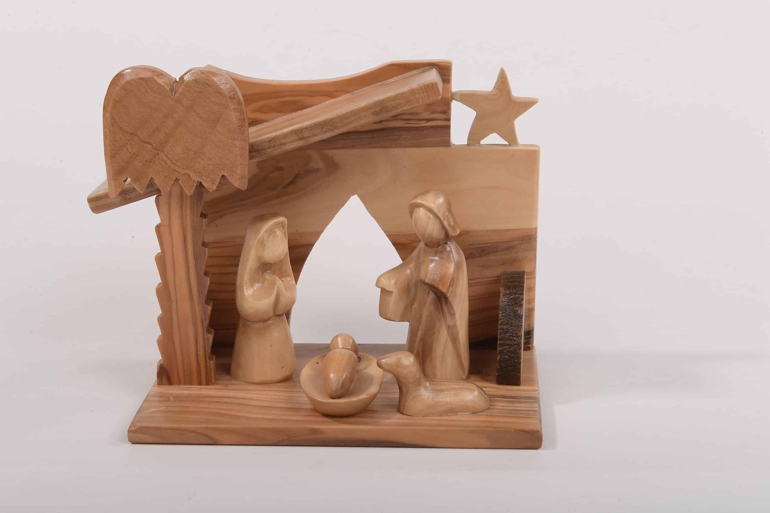 Olive Wood Art Nativity Set Original