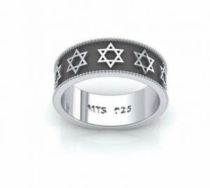 925 Silver Magen David Star Of David Ring Unisex Ring