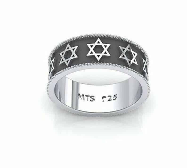925 Silver Magen David Star Of David Ring Unisex Ring
