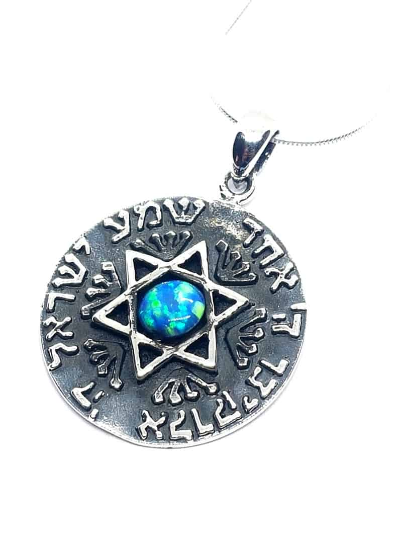 925 Sterling Kabbalah Jewelry Star Of David Pendant with