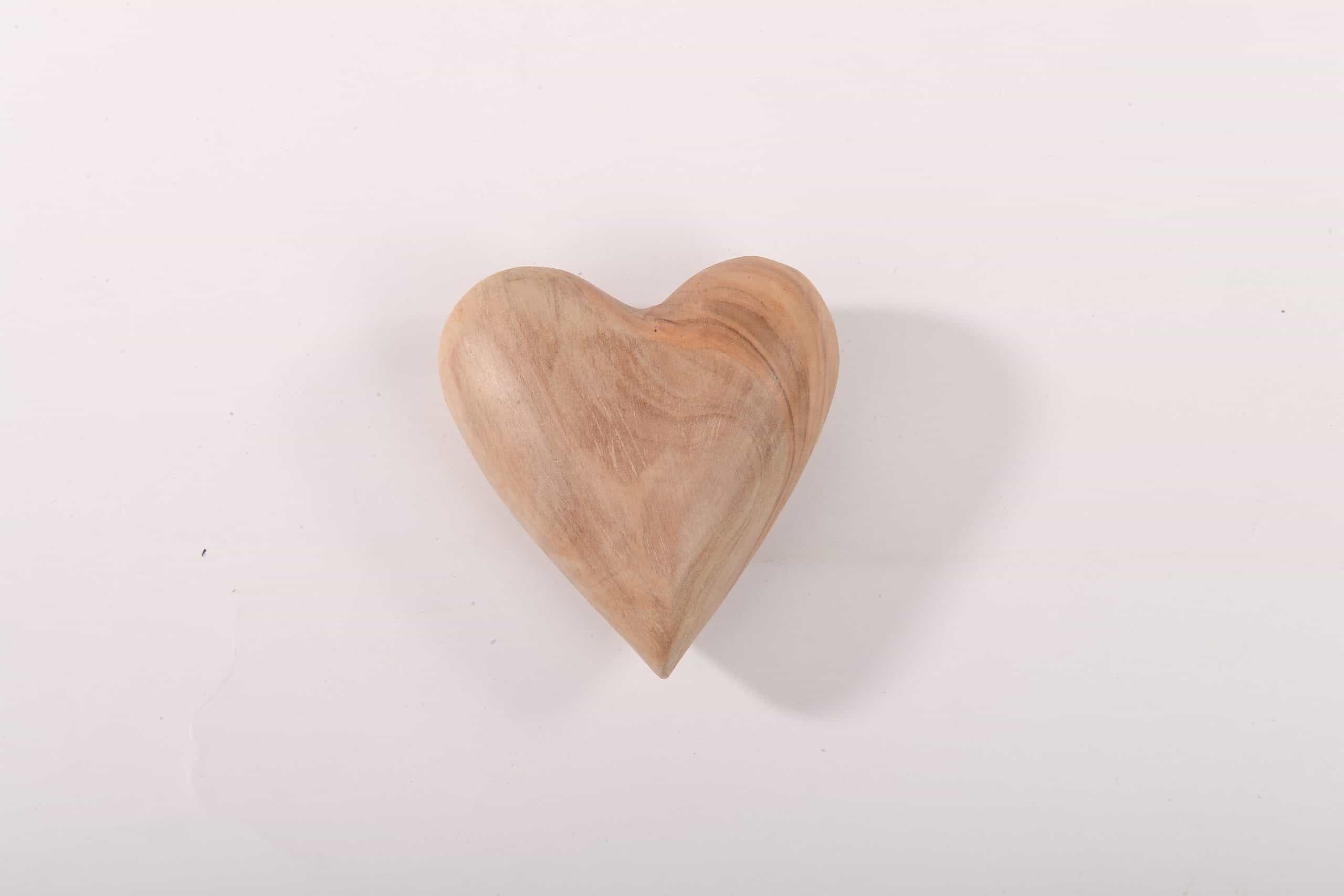 Olive 3D wood Heart