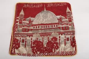 pillow cover jerusalem - red