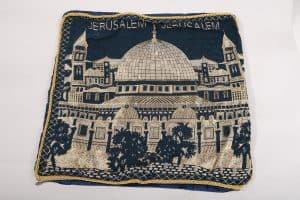 pillow cover jerusalem - blue